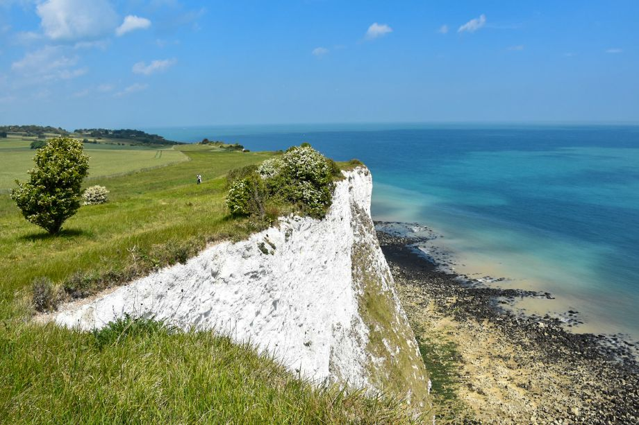 panorama of the Dover cliffs