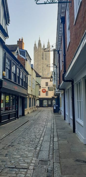 medieval streets of Canterbury