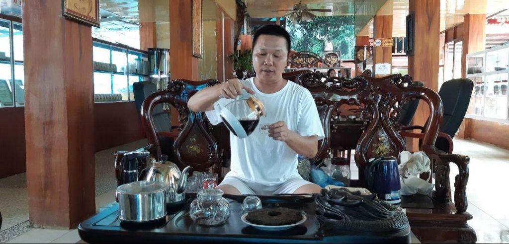 preparazione del thè