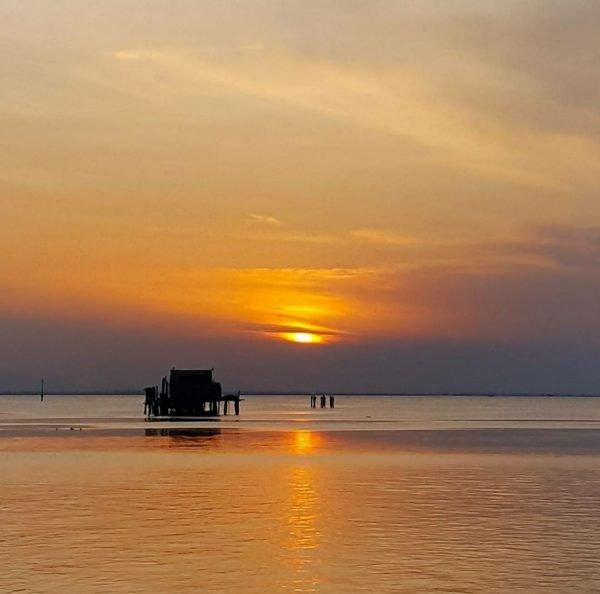 sunset of Pellestrina