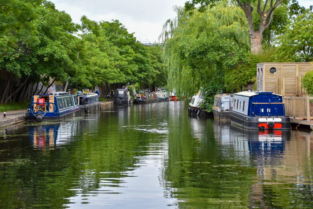 houseboat nel Regent's Canal di Londra