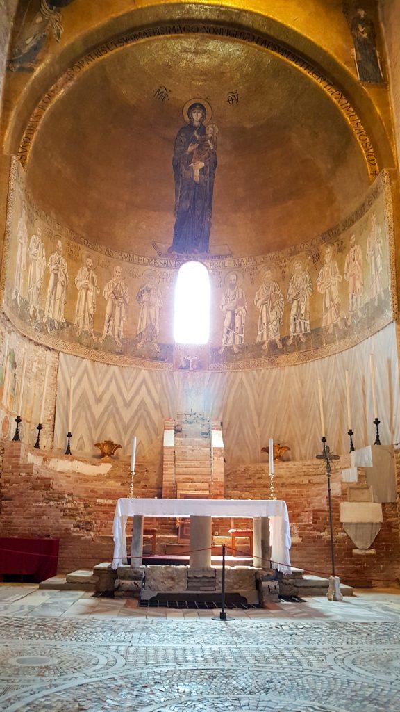 mosaici all'interno della Basilica di Torcello