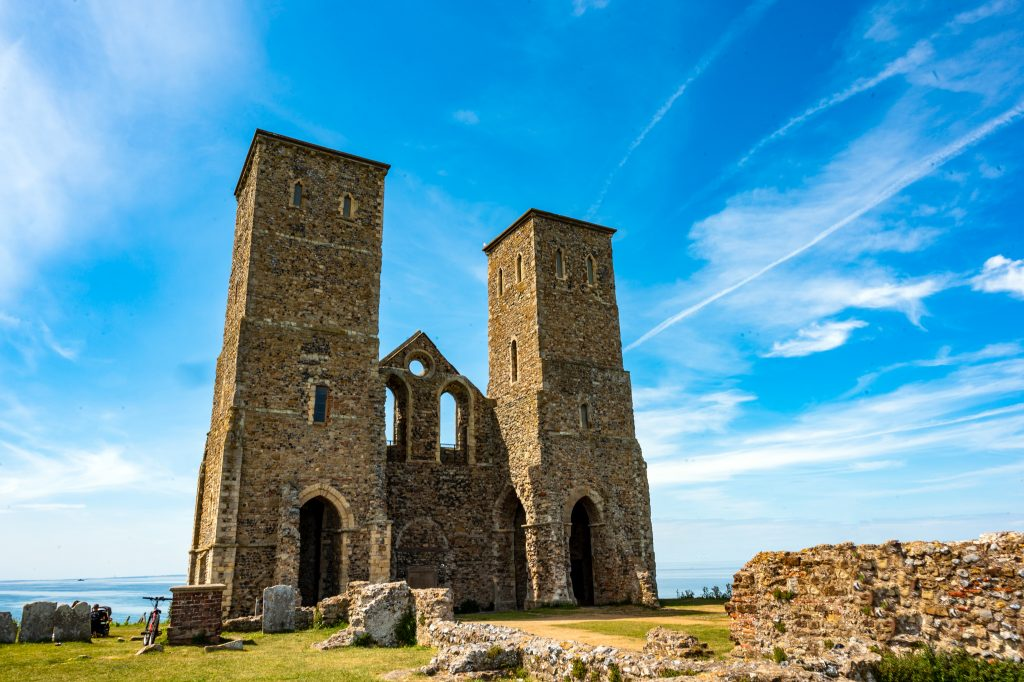 view of the Reculver towers