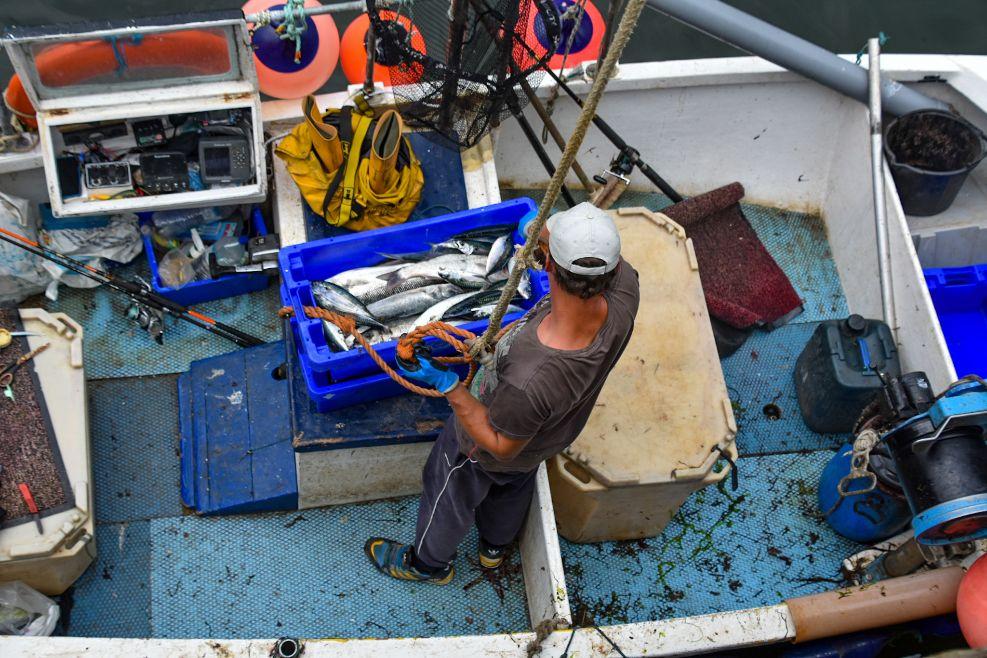 pescatore a Polperro