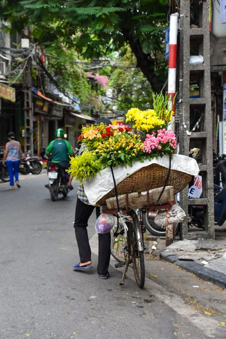 venditrici di fiori