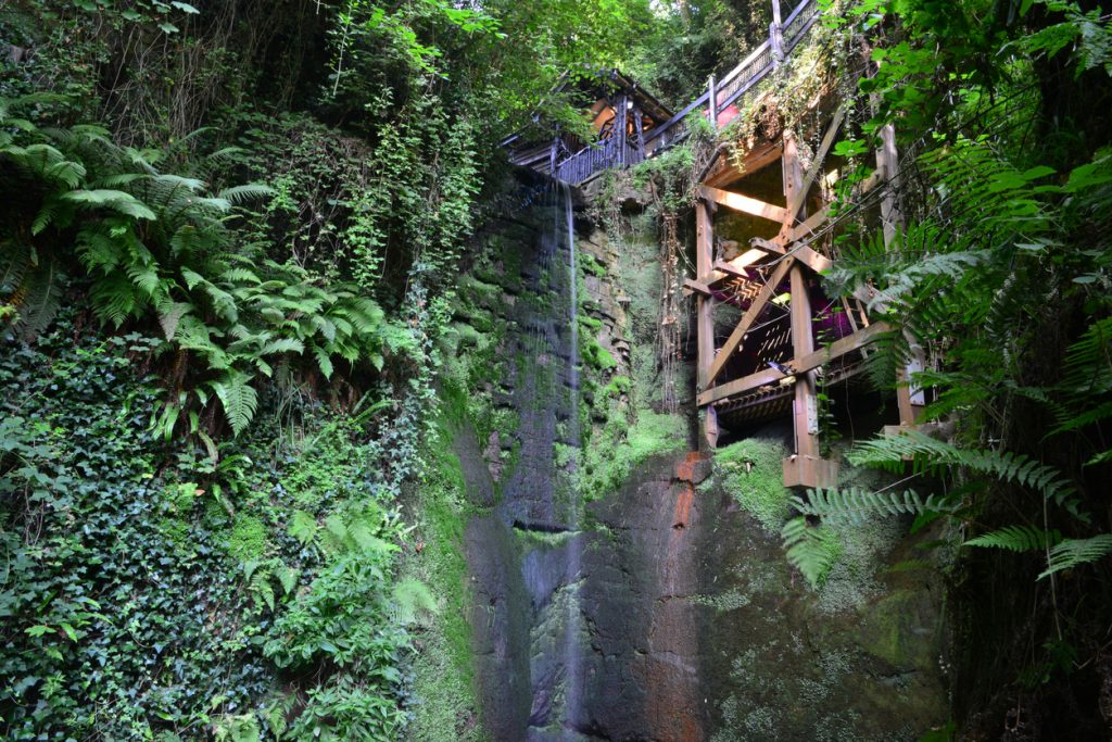 waterfall at shanklin chine
